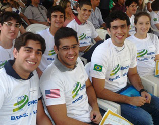 Students in the Brazilian government's Brazil Scientific Mobility program. The program provides scholarships to Brazilian undergraduate and graduate students in STEM fields to study at U.S. institutions. (Photo courtesy of the Institute of International Education)