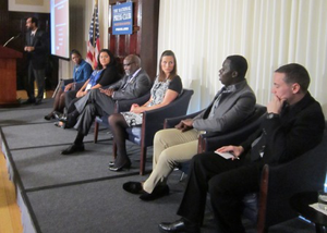 "Featured individuals in ""Redefining Access for the 21st-Century Student"" documentary participate in a panel discussion during the Institute for Higher Education Policy National Summit. (photo by Ronald Roach)"