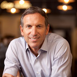 "Starbucks president and CEO Howard Schultz said that ""we can't be a great company, a great enduring country, if we're constantly leaving people behind."""