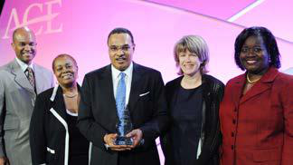 Dr. Freeman Hrabowski III, president of the University Maryland, Baltimore County, has been a mentor in the program and was presented with the 2014 Council of Fellows/Fidelity Investments Award. (Photo courtesy Tim Trumble/ACE).