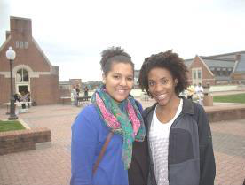 Taylor Griffin, left, and Colleen Roberts of the Georgetown Scholars Program at the Fall Leadership Weekend in 2013. (Photo courtesy of Georgetown University)