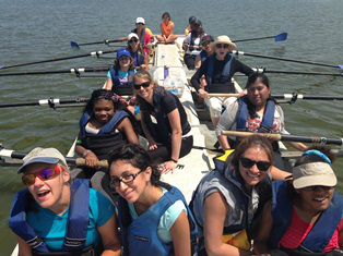 The Initiative for Women With Disabilities taught rowing skills through its Young Women's Program Rowing Camp 2014.