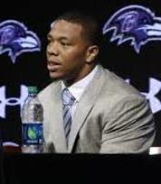 Running back Ray Rice was released by the Baltimore Ravens and suspended by the NFL after knocking out his then-fiancee in an Atlantic City casino elevator in February.