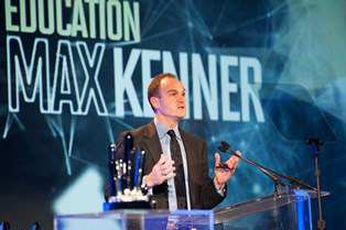 Max Kenner speaks at Smithsonian's American Ingenuity Awards in October.