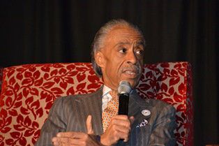 "Civil rights activist Al Sharpton answers criticism of his courting media attention by saying, ""You cannot, in many ways, impact national policy without a national spotlight."""