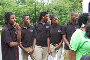 Students from the RU Ready for Work Program at Rutgers University participate in summer programming. The program is credited with boosting college enrollment rates among students at the Newark high schools where it operates.