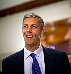 """Arne Duncan, secretary of the Department of Education, says the estimated 9 million students that the proposed plan would help could in reality """"go significantly higher."""""""