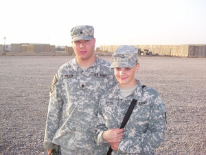 Shannon Travis and her brother, Daniel Travis, during their deployment to Iraq in 2007. (Photo courtesy of Shannon Travis)