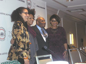 From left to right, Professor Lani Guinier, Dr. Christina Greer, Dr. Jamal Eric Watson and Dr. Khalilah Brown-Dean at Thursday's session. (Photo by Lois Elfman)