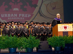 Urban Prep Academies founder Tim King addresses the 2016 commencement.