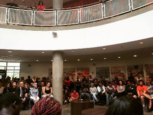 American University held a town hall meeting in the wake of recent racial incidents and campus protests.