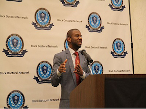 Dr. Ivory A. Toldson was one of the keynote speakers at this year's Black Doctoral Network Conference in Atlanta. The Black Doctoral Network aims to bring together diverse students and professors to talk, network and gain support from colleagues. (Photo courtesy of Sedric Walker)