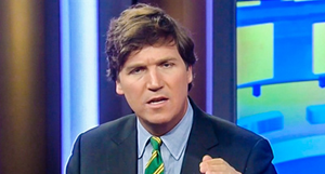 Tucker Carlson is a political pundit who opposes affirmative action.