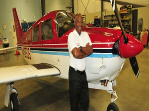 Retired Army Lt. Col. Michael Hales is the director of the Delaware State University Aviation Department