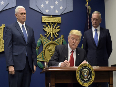 Among other actions, President Trump's order bans refugees from entering the United States from the Muslim-majority nations of Iran, Iraq, Libya, Somalia, Sudan, Syria, and Yemen for 120 days.